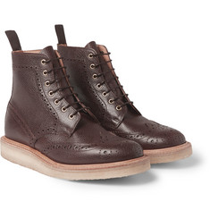 Mark McNairy Crepe-Sole Leather Brogue Boots