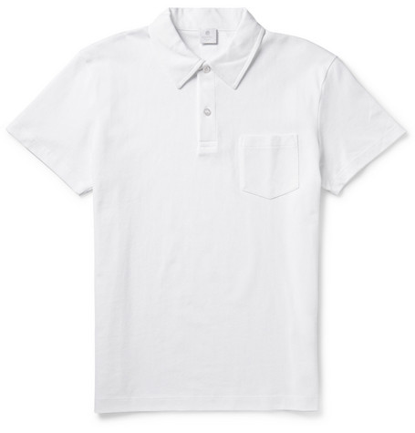Riviera Cotton-mesh Polo Shirt - White