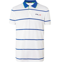 RLX Ralph Lauren Striped Stretch-Piqué Golf Polo Shirt