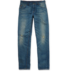 Raleigh Denim Graham Tapered Distressed Selvedge Denim Jeans