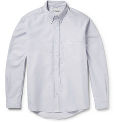Raleigh Denim Button-Down Collar Striped Cotton Shirt