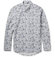 Raleigh Denim Button-Down Collar Printed Cotton Shirt