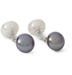 Trianon White Gold Freshwater Pearl Cufflinks