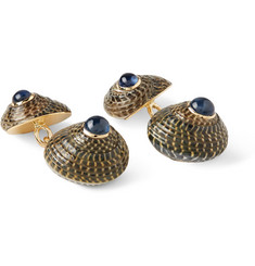 Trianon Gold, Shell and Sapphire Cufflinks