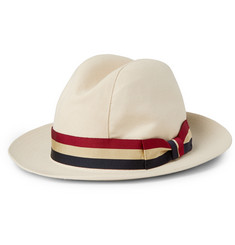 Lock & Co Hatters Monaco Woven-Straw Trilby Hat