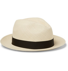Lock & Co Hatters Classic Woven-Straw Panama Hat