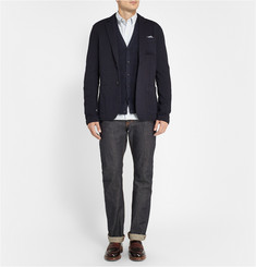 Club Monaco Crinkled Knitted Blazer