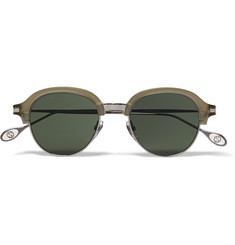 Gucci Round-Frame Metal and Acetate Sunglasses