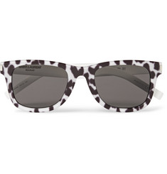 Saint Laurent Patterned D-Frame Acetate Sunglasses
