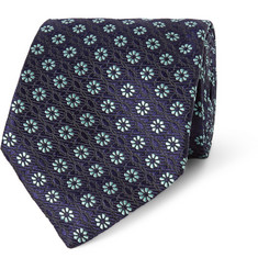 Penrose Floral-Embroidered Silk Tie