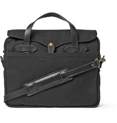 Filson Original Leather-Trimmed Canvas Briefcase