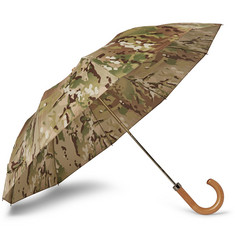 London Undercover Camouflage-Print Maple-Handle Collapsible Umbrella