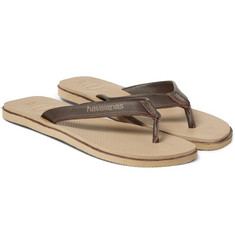 Havaianas - Urban Premium Leather and Rubber Flip Flops