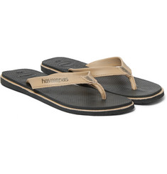Havaianas Urban Premium Leather and Rubber Flip Flops