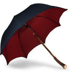 Francesco Maglia Lord Chestnut Knot Wood-Handle Umbrella