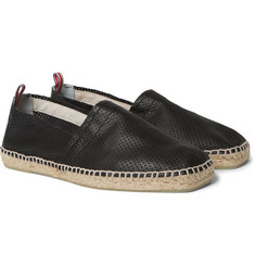 Castañer Pablo Perforated-Leather Espadrilles