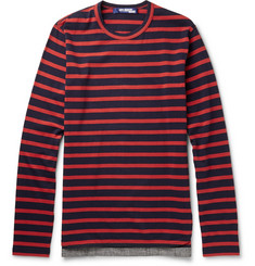 Junya Watanabe Striped Long-Sleeved Cotton-Jersey T-Shirt