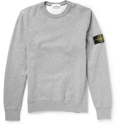 Stone Island Fleece-Backed Cotton Jersey Sweatshirt
