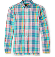 Beams Plus Button-Down Collar Madras Check Cotton Shirt