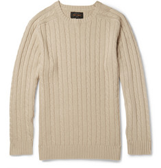 Beams Plus Cable-Knit Linen-Blend Sweater