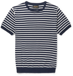Beams Plus Striped Knitted Cotton T-Shirt