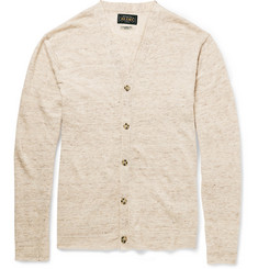 Beams Plus Flecked Knitted Linen Cardigan