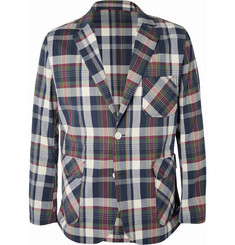 Beams Plus Cotton-Blend Madras Seersucker Suit Jacket