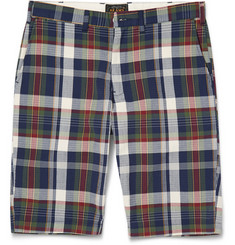 Beams Plus Slim-Fit Cotton-Blend Madras Seersucker Suit Shorts