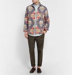 Faherty Aztec-Print Cotton Overshirt