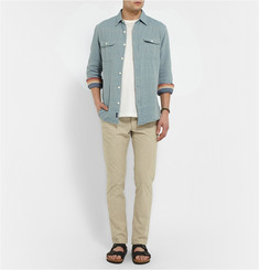 Faherty Washed-Chambray Shirt
