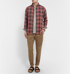 Faherty Checked Woven Cotton Shirt