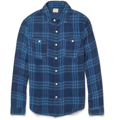 Faherty Indigo-Dyed Checked Cotton Shirt