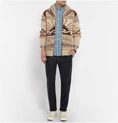 Faherty Knitted Shawl-Collar Cardigan