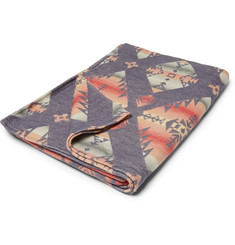 Faherty Aztec-Print Cotton Blanket