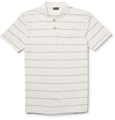 Steven Alan Slubbed Cotton-Blend Polo Shirt