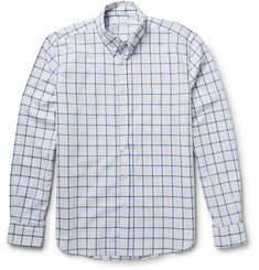 Steven Alan Button-Down Collar Windowpane-Check Cotton Shirt