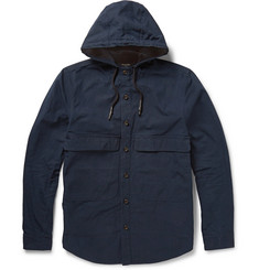 Steven Alan Cotton-Gabardine Hooded Jacket