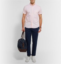 Steven Alan Palm Tree-Embroidered Cotton Oxford Shirt