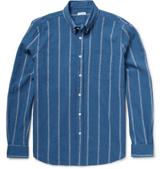 Steven Alan Button-Down Collar Striped Woven Cotton Shirt