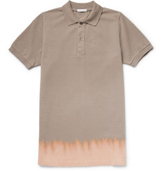 Tomas Maier Bleached Cotton-Piqué Polo Shirt