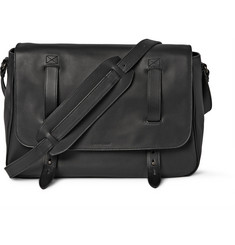 Tomas Maier Matte-Leather Messenger Bag