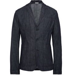 Tomas Maier Indigo Slim-Fit Unstructured Cotton Blazer