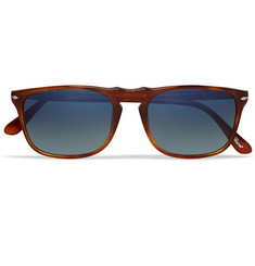 Persol D-Frame Polarised Acetate Mirrored Sunglasses