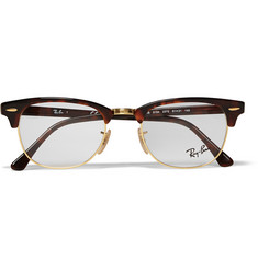 Ray-Ban Clubmaster Tortoiseshell Acetate And Metal Optical Glasses