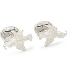 Deakin & Francis Silver Bird and Worm Cufflinks