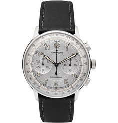 Junghans Meister Telemeter Chronoscope Stainless Steel and Leather Watch