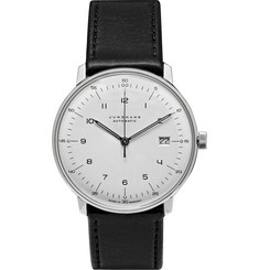 Junghans Max Bill Stainless Steel and Leather Automatic Watch