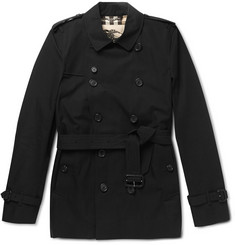 Burberry London Kensington Short-Length Cotton Trench Coat