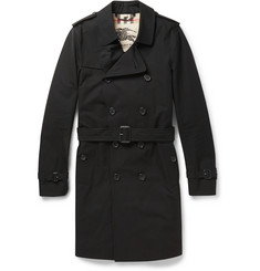 Burberry London Sandringham Long Cotton-Gabardine Trench Coat