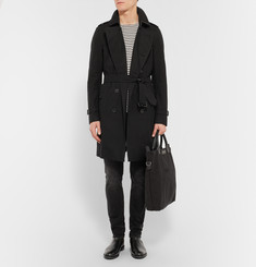 Burberry London Long Cotton-Gabardine Trench Coat